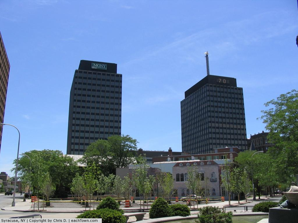 - AXA Towers in Syracuse, NY