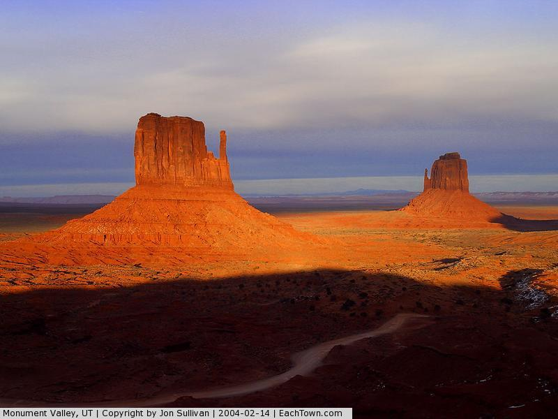 - Monument Valley at sunset