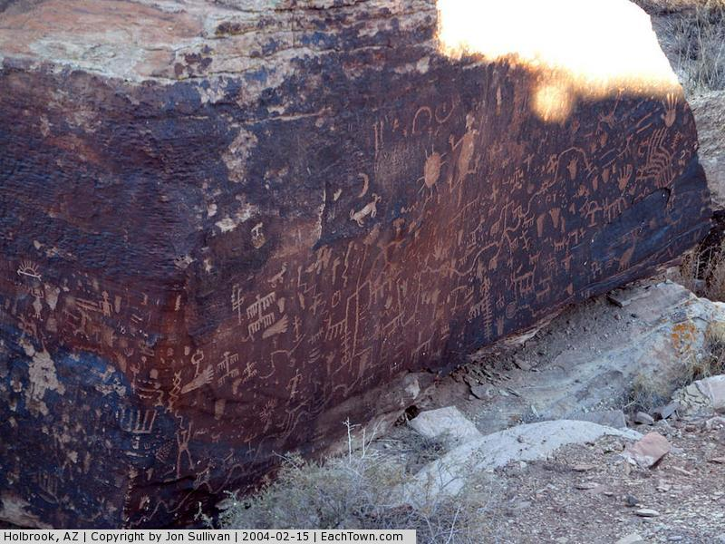 - Newspaper Rock at Petrified Forest National Park
