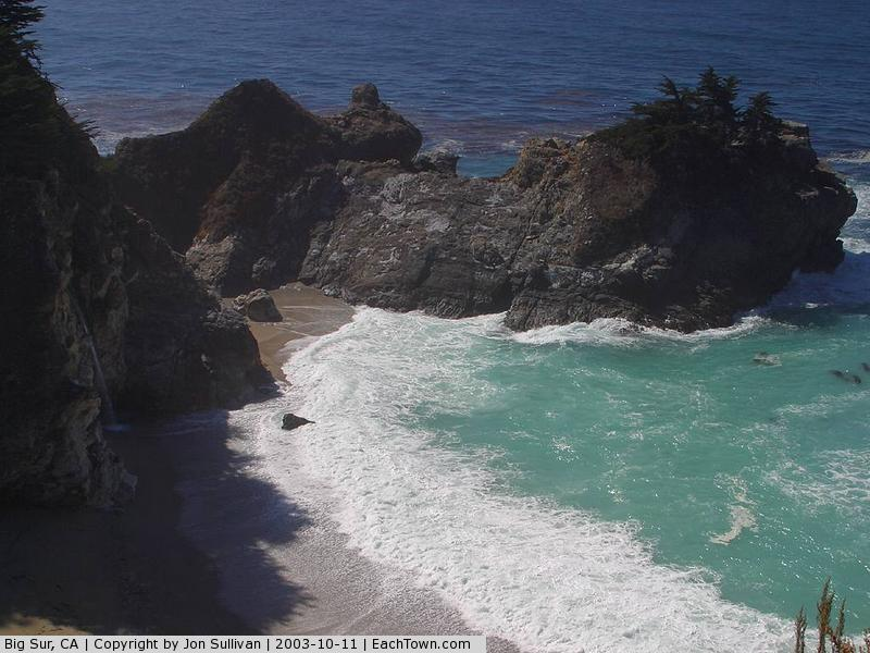 - McWay Falls (left side in the shadow)