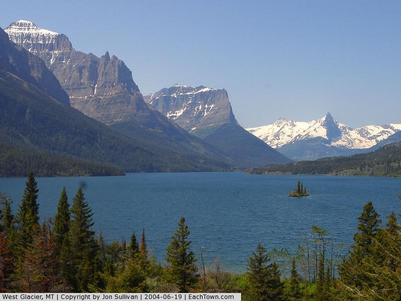 - Wild Goose Island on St Mary Lake, Glacier National Park