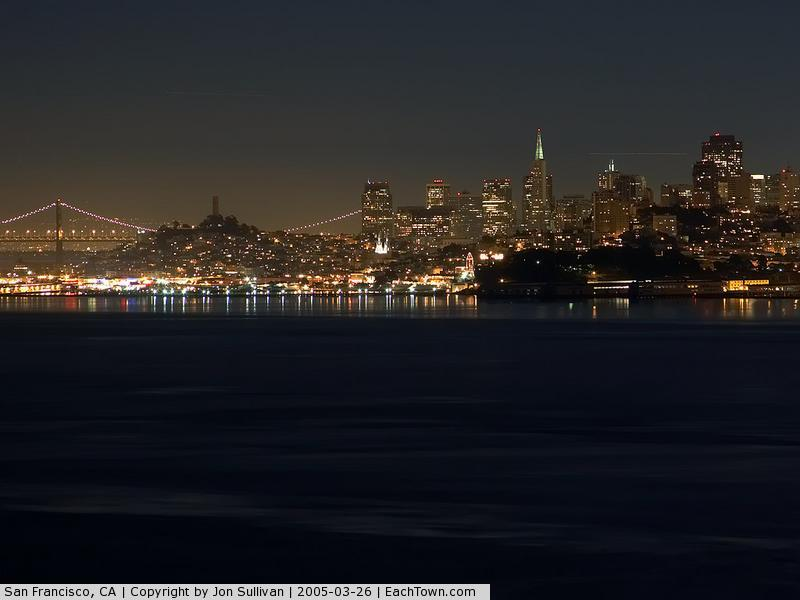 - San Francisco Skyline seen from across the bay