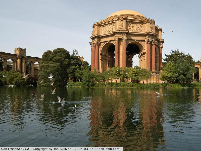 - The Palace Of Fine Arts in San Francisco