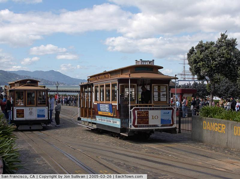- San Francisco Trolley Cars near fisherman's wharf