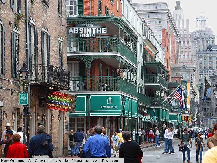 - Bourbon Street, New Orleans, in Dec 2003.