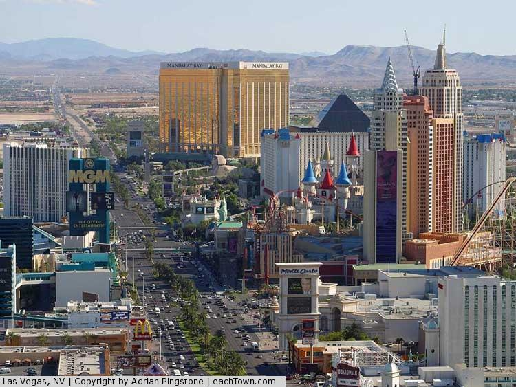 - The Las Vegas strip in Dec 2003