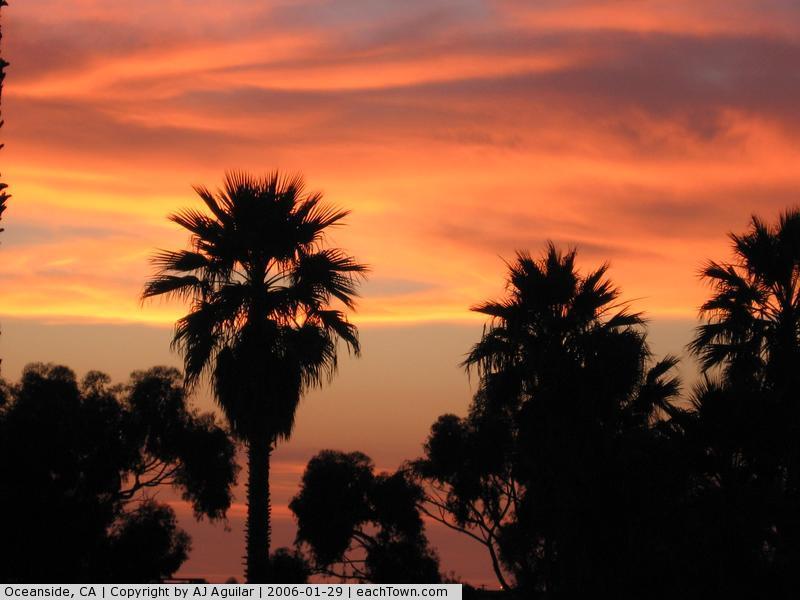 - oceanside at sunset