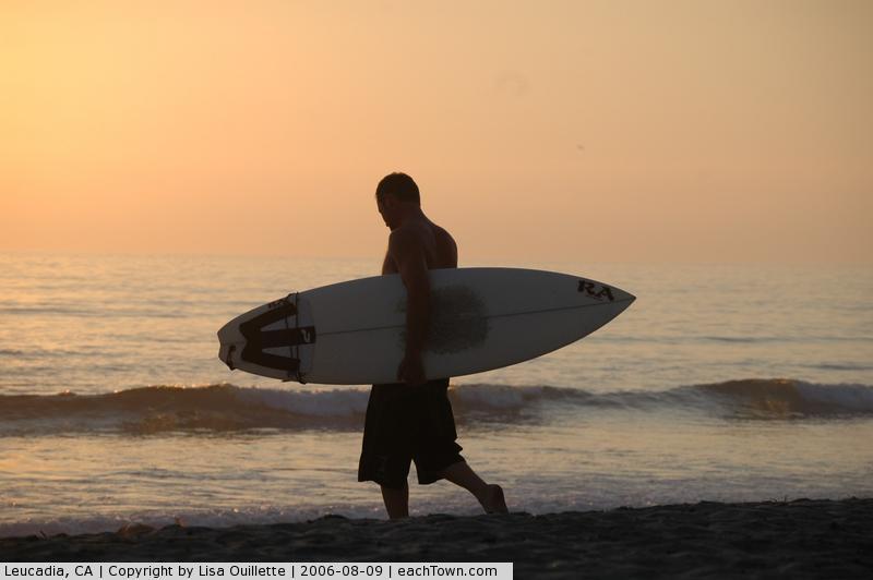 - sunset at Beacons Beach