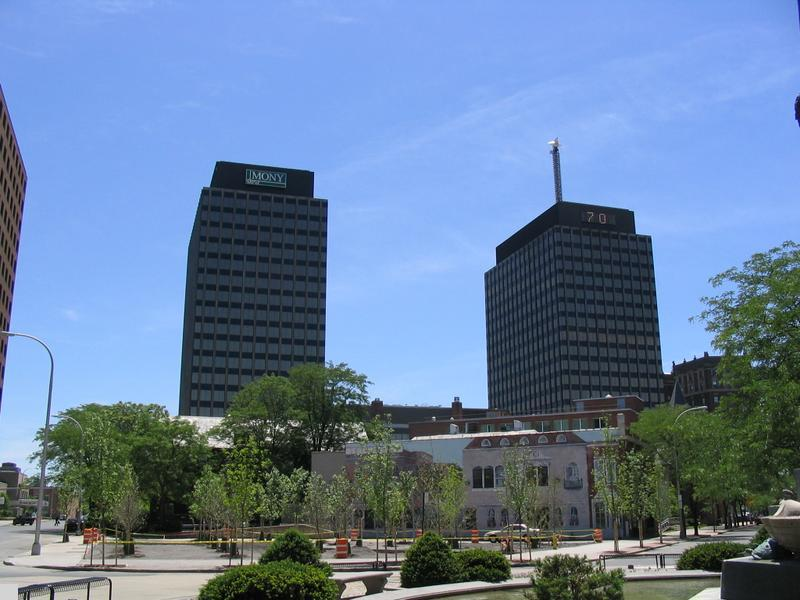 - AXA Towers in Syracuse, NY