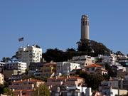San Francisco, CA - Coit Tower on Telegraph Hill, taken from Fisherman's Wharf