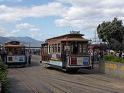 San Francisco, CA - San Francisco Trolley Cars near fisherman's wharf