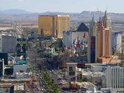The Las Vegas strip in Dec 2003