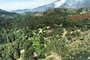 Seven Oaks, CA - arial view toward Redlands, Santa Ana River on the left